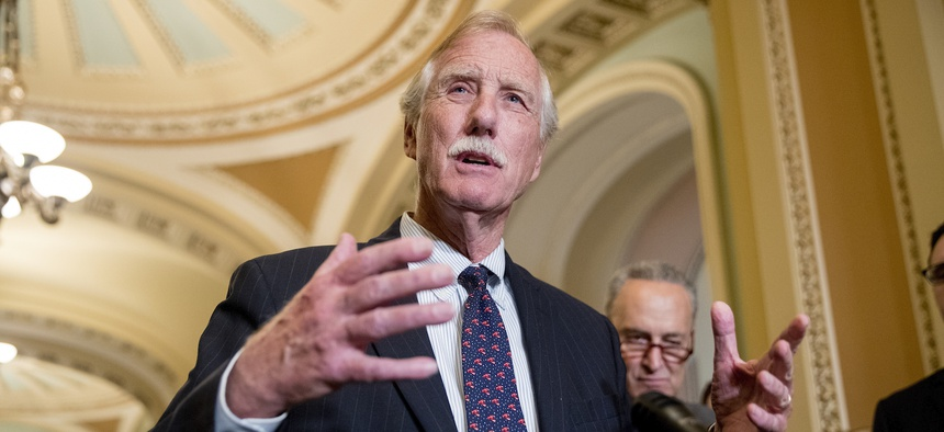 Sen. Angus King, I-Maine, one of the chairs of the congressional  Cyberspace Solarium Commission (CSC).