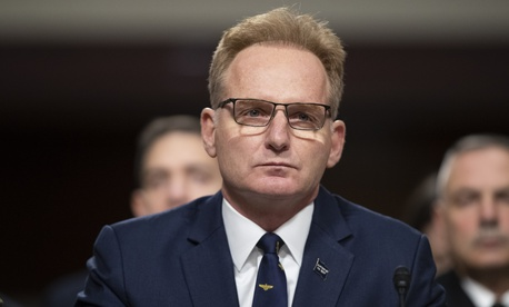 In this file photo, Acting Navy Secretary Thomas Modly testifies in the Senate Armed Services Committee on Dec. 3, 2019 in Washington, D.C.