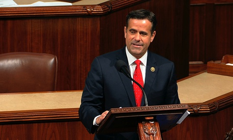 Rep. John Ratcliffe, R-Texas, speaks as the House of Representatives debates the articles of impeachment against President Donald Trump at the Capitol in Washington, Wednesday, Dec. 18, 2019.