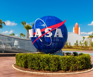 Kennedy Space Center Visitor Complex in Cape Canaveral, Florida is show in 2015.