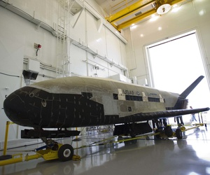 The X-37B Orbital Test Vehicle (OTV), the Air Force's unmanned, reusable space plane, landed at Vandenberg Air Force Base at 5:48 a.m. (PDT) June 16. OTV-2, which launched from Cape Canaveral Air Force Station, Fla., March 5, 2011.
