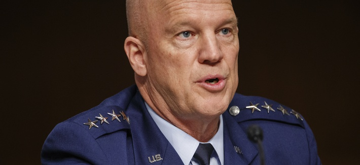 Chief of Space Operations at U.S. Space Force Gen.John Raymond testifies before the Senate Armed Services Committee hearing on the Department of Defense Spectrum Policy and the Impact of the Federal Communications Commission's Ligado Decision