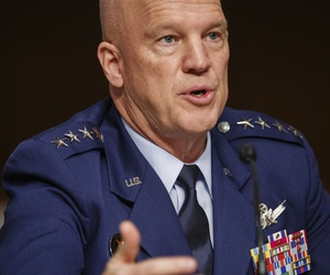 Chief of Space Operations at U.S. Space Force Gen. John Raymond testifies before the Senate Armed Services Committee hearing on the Department of Defense Spectrum Policy and the Impact of the Federal Communications Commission's Ligado Decision