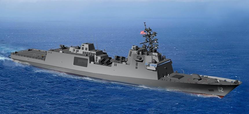 Rendition of U.S. Navy FFG(X) frigate