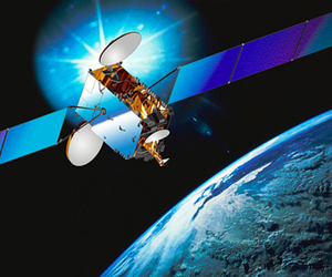 An intelsat Galaxy 7 satellite