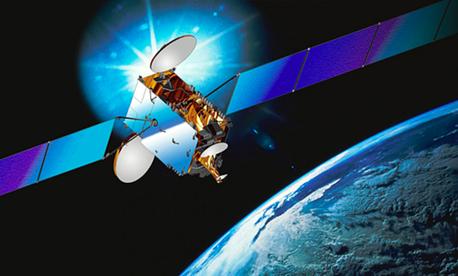 An intelsat Galaxy 7 satellite