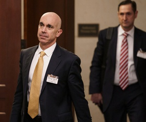 State Department Inspector General Steve Linick leaves a meeting in a secure area at the Capitol where he met with Senate staff on Oct. 2 about the State Department and Ukraine.
