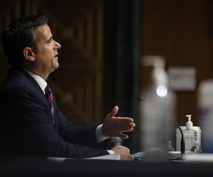 Rep. John Ratcliffe, R-Texas, testifies before a Senate Intelligence Committee nomination hearing on Capitol Hill in Washington, Tuesday, May. 5, 2020. The panel is considering Ratcliffe's nomination for director of national intelligence.