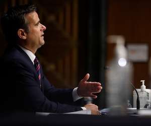 Rep. John Ratcliffe, R-Texas, testifies before a Senate Intelligence Committee nomination hearing on May 5.