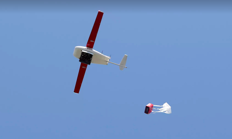A Zipline delivery drone