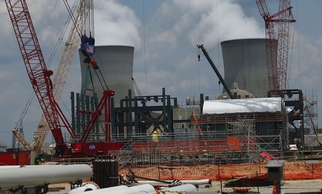 In this June 13, 2014 file photo, construction continues on a new reactor at Plant Vogtle Nuclear Power Plant in Waynesboro, Ga.