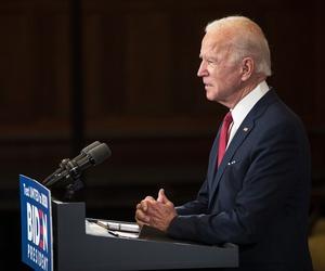 Democratic presidential candidate, former Vice President Joe Biden speaks in Philadelphia during nationwide civil unrest, Tuesday, June 2, 2020.