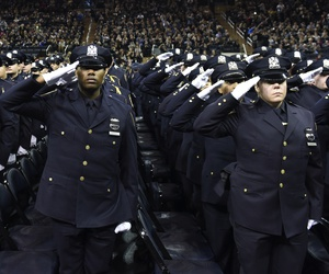 2015 graduation of new New York City Police officers at Madison Square Garden.