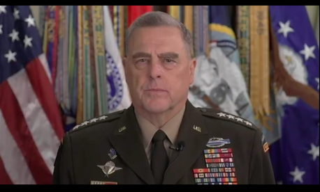 Joint Chiefs Chairman Gen. Mark Milley addressed his and the US military's role in racism protests, in a taped speech to National Defense University graduates, Thurs., Jun 11, 2020.