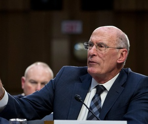 Director of National Intelligence Daniel Coats testifies before the Senate Intelligence Committee on Capitol Hill in 2019.