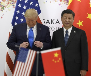 President Donald Trump and Chinese President Xi meet on the sidelines of the G-20 summit in Osaka, Japan, Saturday, June 29, 2019.
