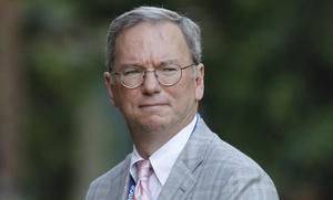 Executive Chairman of Google Eric Schmidt looks on during a reception, hosted by Britain's Prince Charles, at Clarence House in London for the delegates of the Global Investment Conference, Thursday, July 26, 2012.