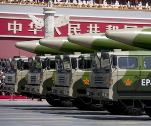 China's DF-26 intermediate-range ballistic missile (IRBM).