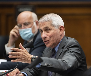 Dr. Anthony Fauci, Director of the National Institute of Allergy and Infectious Diseases testifies before the House in Washington on Tuesday, June 23, 2020.