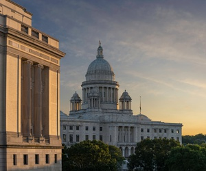 The Rhode Island State Capitol building.