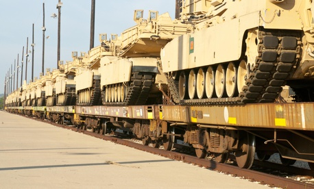 The 1st Battalion, 12th Cavalry Regiment, 3rd Brigade Combat Team, 1st Cavalry Division, received 29 M1A2 Abrams tanks, Sept. 26, 2014, at Fort Hood, Texas.