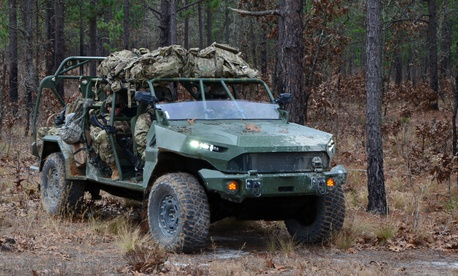 An Army Infantry Squad Vehicle.