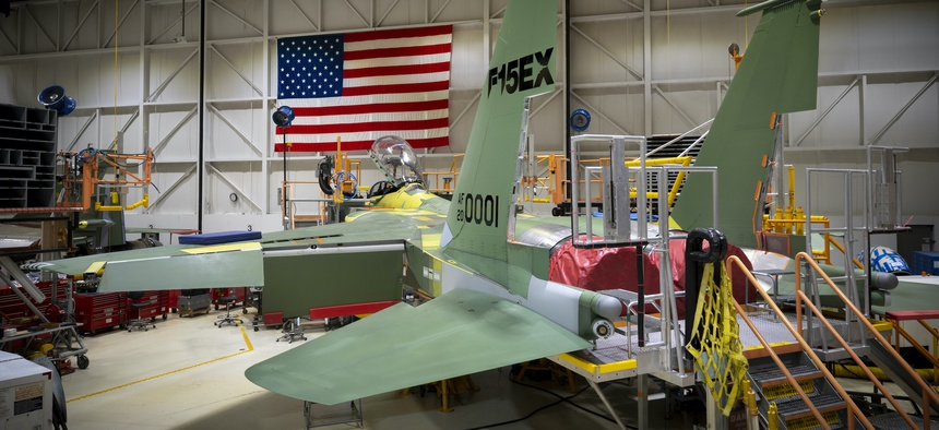 The Department of the Air Force awarded a nearly $1.2 billion contract for its first lot of eight Boeing F-15EX fighter aircraft on July 13, 2020.