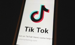 TikTok displayed on an iphone6
