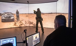 Virtual Simulator Training at the U.S. Customs and Border Protection Advanced Training Facility in Harpers Ferry, W.Va.