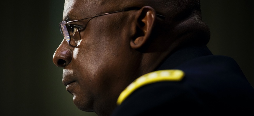 US Central Command Commander Gen. Lloyd Austin III, testifies on Capitol Hill in Washington, Wednesday, Sept. 16, 2015, before the Senate Armed Services Committee hearing on 'US military operations to counter the Islamic State in Iraq.