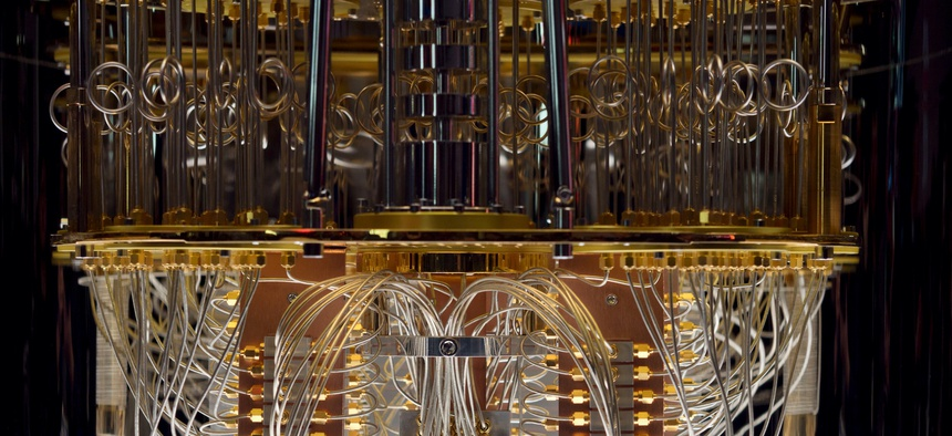 IBM showed its Q System One quantum computer at the Consumer Electronic Show 2020.