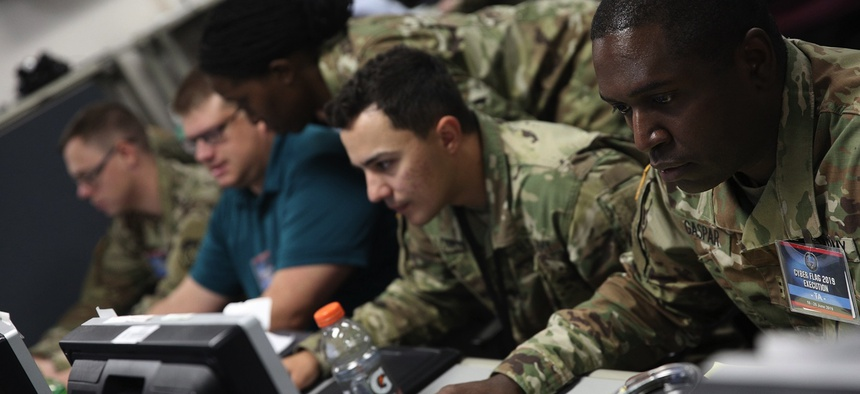 U.S. service members and civilians, as well as partner nation military personnel, participated in the Cyber Flag 19-1 exercise, June 21-28, 2019, in Suffolk, Virginia.