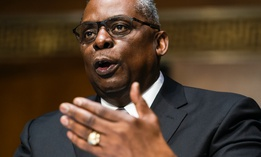 Secretary of Defense nominee Lloyd Austin, a recently retired Army general, speaks during his conformation hearing before the Senate Armed Services Committee on Capitol Hill, Tuesday, Jan. 19, 2021.