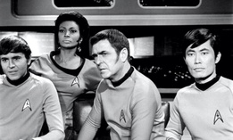 Publicity photo of crew members of the USS Enterprise (NCC 1701)